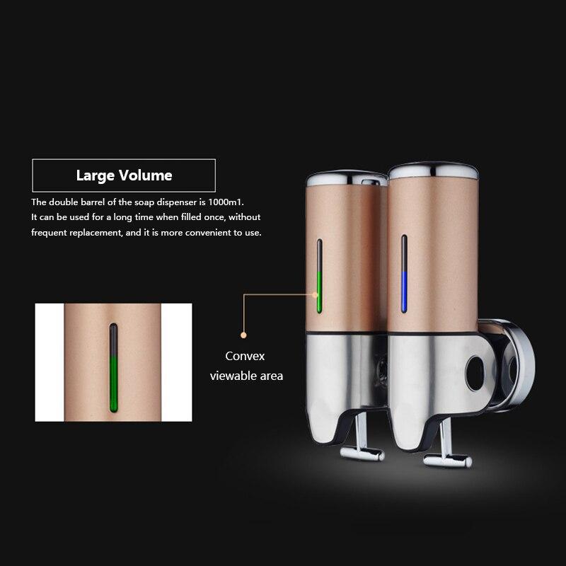 BATHROOM SHOWER SOAP SHAMPOO GEL DISPENSER PUMP WALL MOUNTED 1000ML NEW