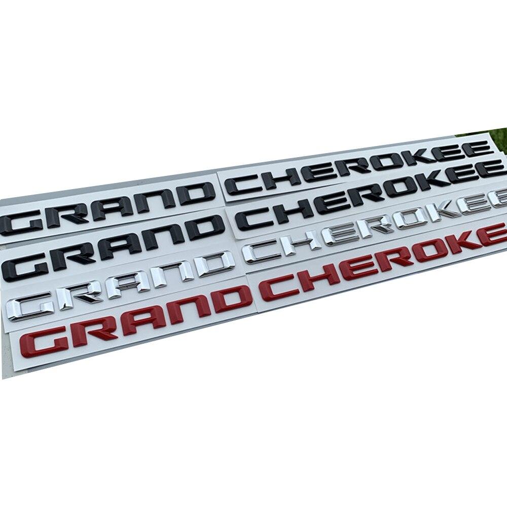 2pc oem para jeep grand cherokee frente esquerda & direita porta lateral emblema placa de identificação logotipo letras etiqueta