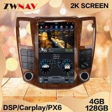 4 + 128G ekran tesli dla Lexus RX RX300 RX330 RX350 RX400H RX450H Android 9 jednostka samochodowy odtwarzacz multimedialny GPS Audio Radio Stereo