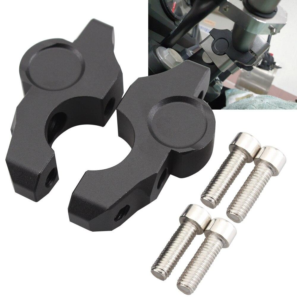 Abrazadera de aluminio para manillar de motocicleta, elevador de montaje de manillar extendido elevado para BMW S1000 R S1000 RR S1000XR 2014-2017