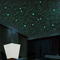 1pcs 3d bubble fluorescence dot star wall stickers glow in the dark diy kids room living room wall decal home decor wall sticker