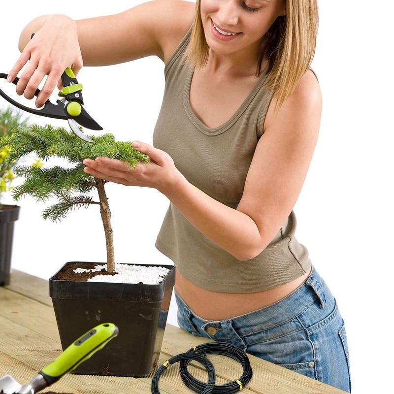 9 ritinėliai anonuoto aliuminio bonsai treniruočių laido su 3 - Sodo reikmenys - Nuotrauka 6