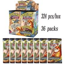 324 Cards Pokemon TCG: Sun & Moon Unbroken Bonds 36-Pack Booster Box Trading Card Game Kids Collecti