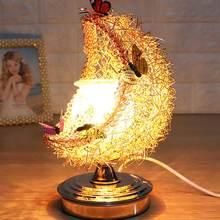 1 pièces chambre lampe de chevet clair de lune veilleuse avec 2 papillon vacances cadeaux croissant aromathérapie lampe romantique doux intérieur