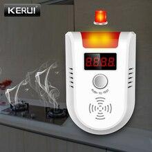 KERUI GD13 LPG gaz alarmlı dedektör kablosuz dijital LED ekran doğal kaçak yanıcı gaz dedektörü ev Alarm sistemi için