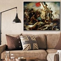freedom guiding the people by artist eugene delacroix the classic arts louvre collection canvas print painting decor %d0%ba%d0%b0%d1%80%d1%82%d0%b8%d0%bd%d1%8b