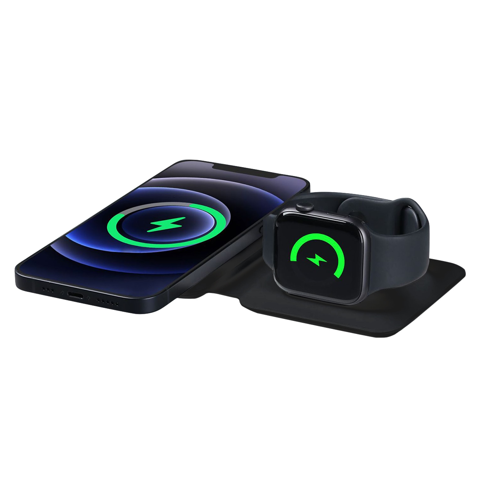 New 2 In1 Dual Magnetic Wireless Charger For IPhone12 /Pro/Pro Max/Mini Charger 15W Fast Charging Fo