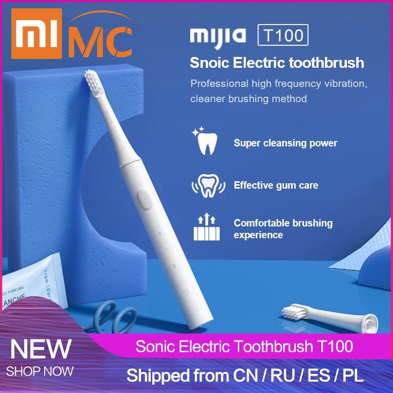 2019 Xiaomi Mijia T100 звуковая электрическая зубная щетка для взрослых Водонепроницаемая ультра звуковая автоматическая зубная щетка USB перезаряжаемая зубная щетка