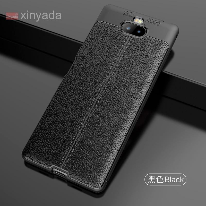 Funda de cuero de PU para Sony Xperia 10 Plus Xperia 1 Xperia10 funda de armadura del teléfono parachoques funda de silicona suave Tpu