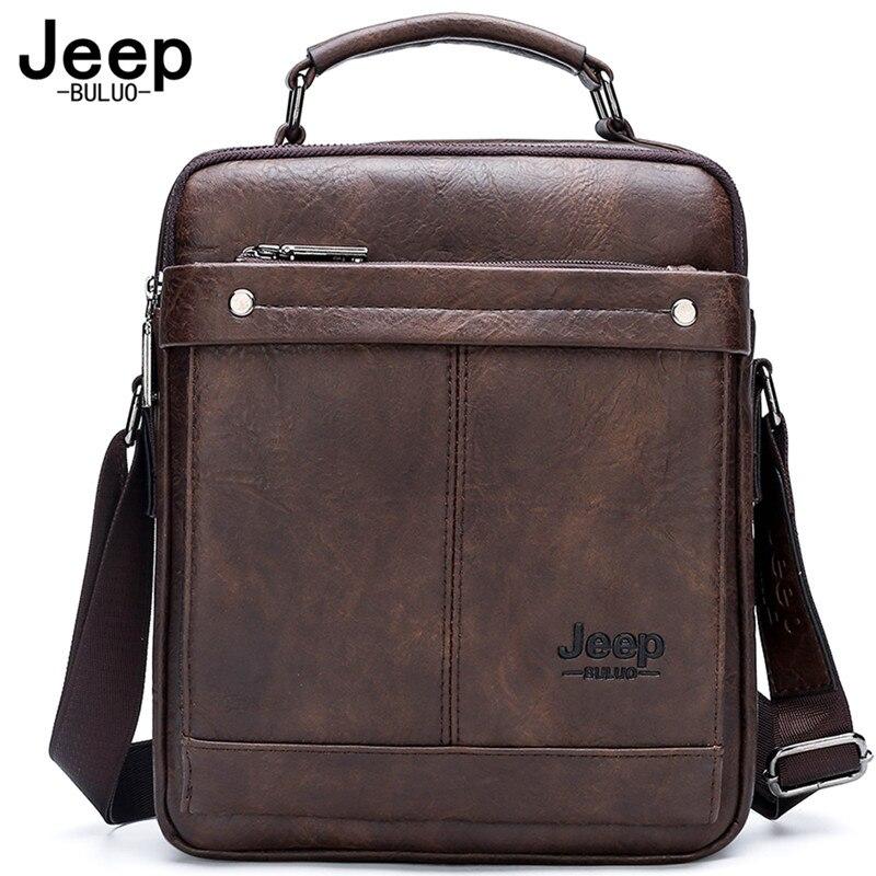 Мужская сумка-тоут для iPad 9,7 дюйма JEEP BULUO, Оранжевая Сумка для документов, деловой портфель для работы и офиса, все сезоны,