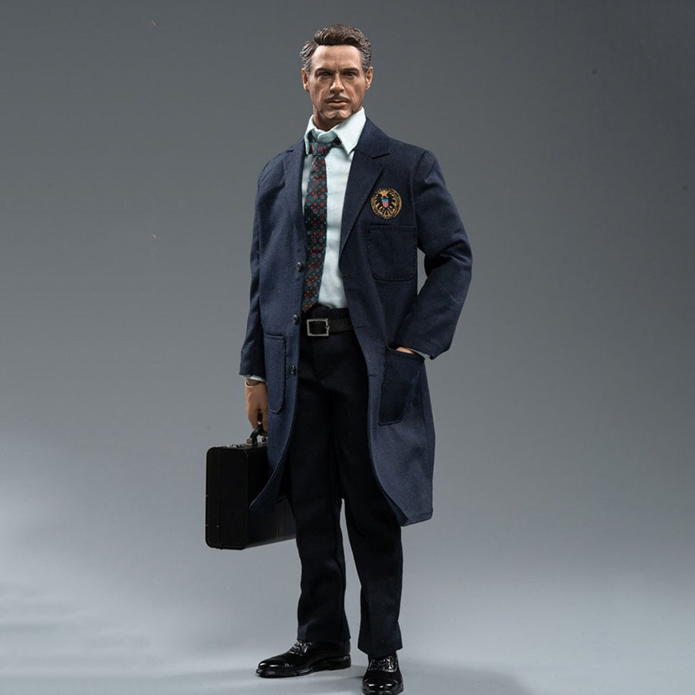 MTOYS MS015 1/6 Scale Iron Hero Tony 12 INCH Robert Downey Jr. Soldier Action Figure Model for Fans Collection Gifts