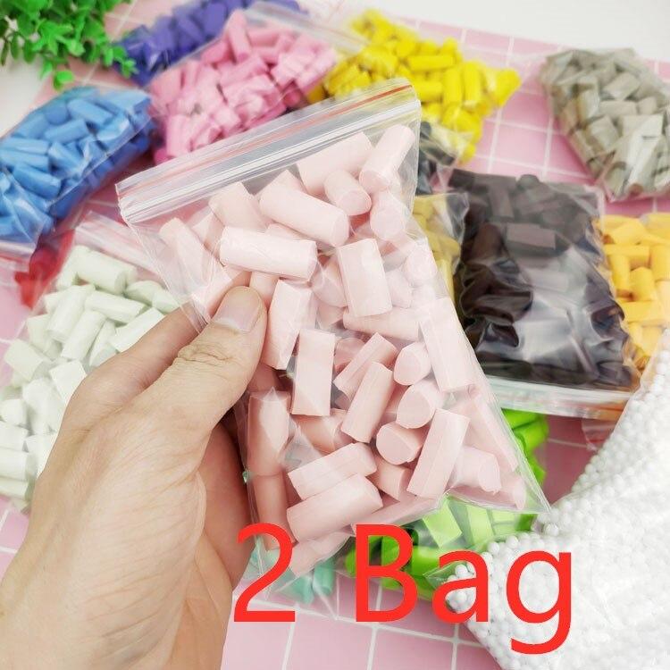 2 bolsas nuevas 140 Uds accesorios para Slime esponja abalorios de masa viscosa suministros DIY accesorios para Slime Stuff espuma arcilla barro esponja bloque