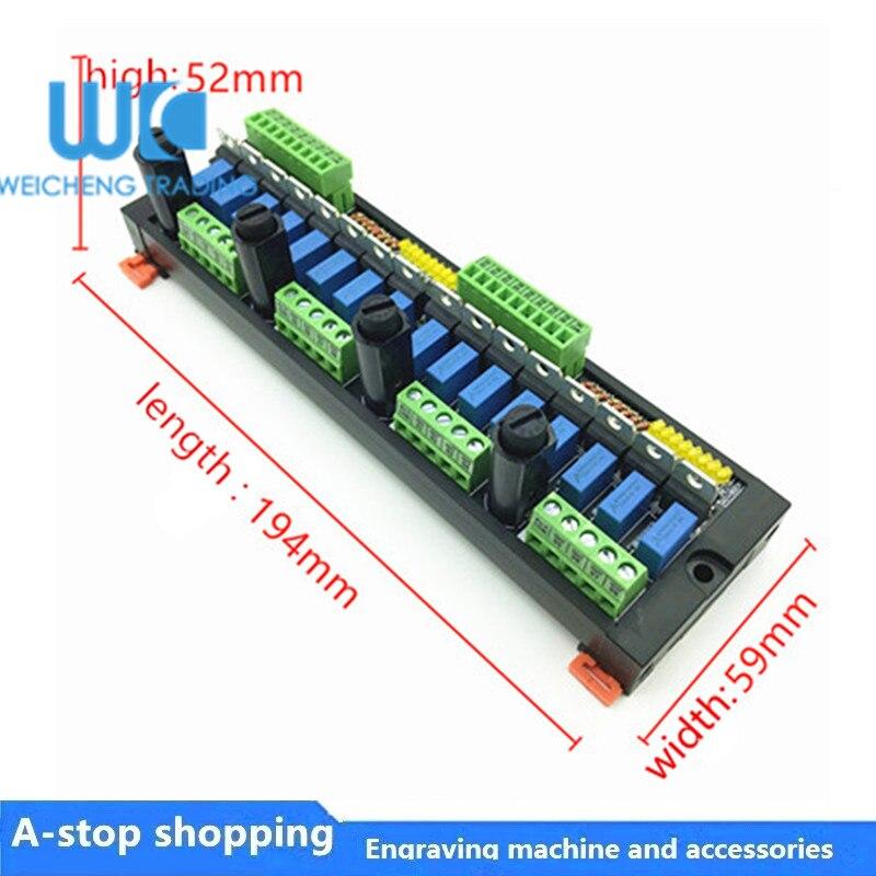 لوحة مكبر صوت PLC ذات 16 قناة ، مرحل الحالة الصلبة غير المتصل ، optolink ، عزل SCR ، خرج 220 فولت