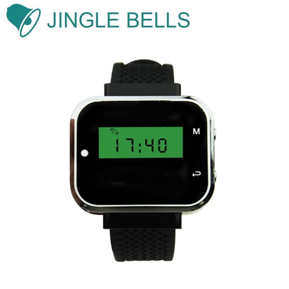 جهاز استقبال ساعة بيجر ، نظام الاتصال اللاسلكي للمطاعم ، النادل ، يعمل مع أزرار الاتصال ، السبا والصالون