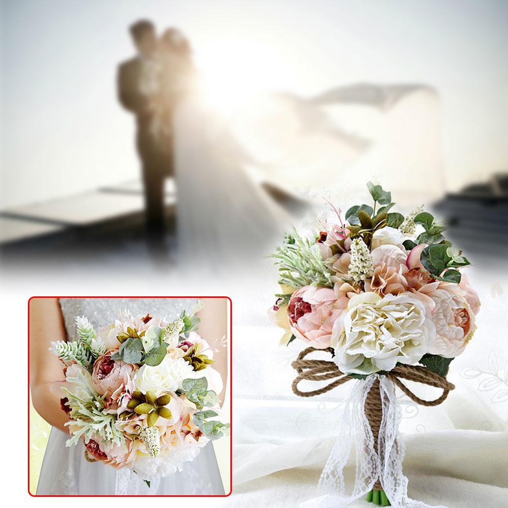 Elegante buquê de noiva broche de dama de honra simples projetado fontes de festa
