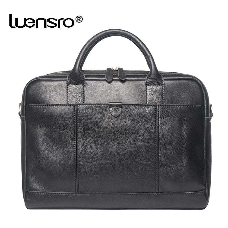 Large Men's Genuine Leather Bag for Men Briefcases Bags Man Leather Laptop Bag Shoulder Bags Men Han
