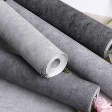 Темная чистая однотонная цементная серая настенная Бумага ПВХ матовая текстура Водонепроницаемая домашняя декор для гостиной спальни нас...