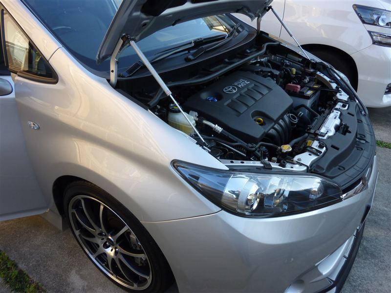 for Toyota Wish AE20 2009-2017 Front Bonnet Hood Modify Gas Struts Carbon Fiber Spring Damper Lift Support Absorber