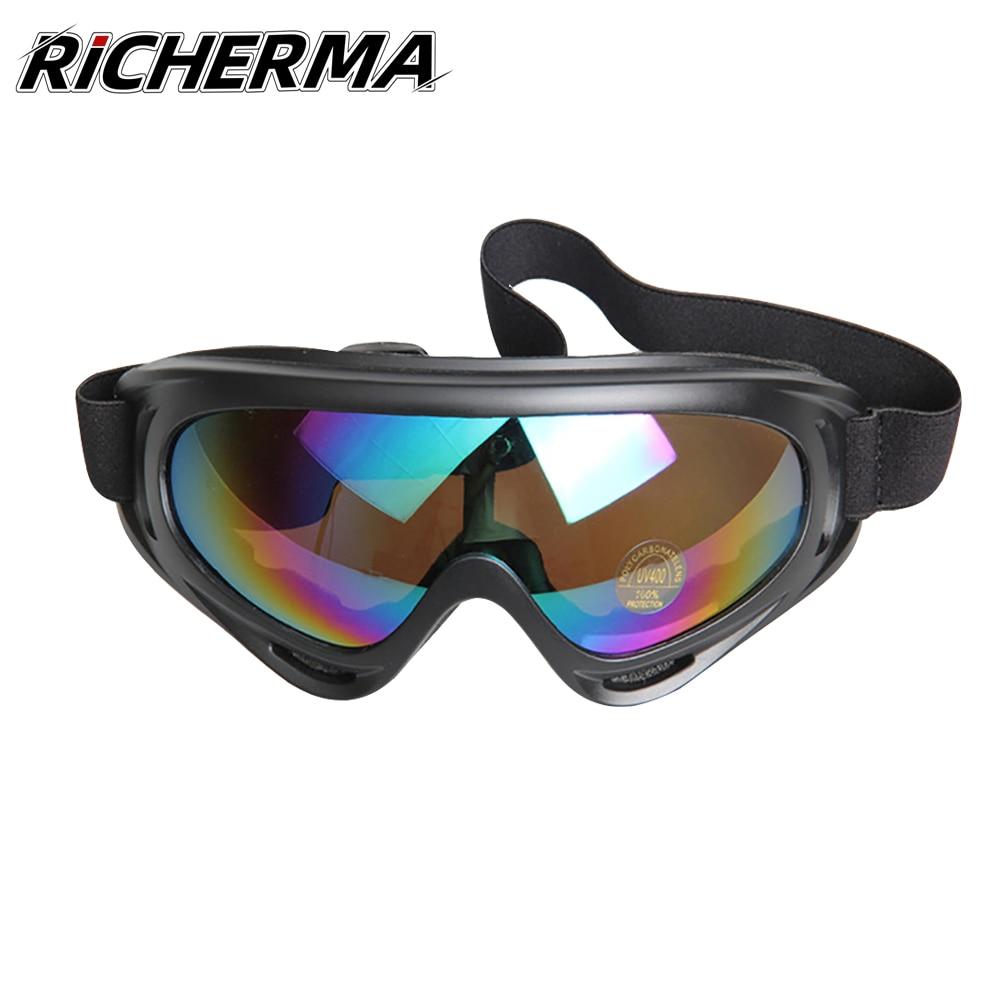 Gafas de Moto para deportes al aire libre, gafas de Moto a prueba de viento para hombre, gafas Anti-UV para Moto, motociclista, carreras, esquí, Snowmobile, Snowboard