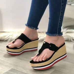 2021 Female Thick Soled Sandals  Slippers Summer Fashion Women shoes All-match Muffin Bottom Slope Sexy Tide Shoes Women Sandals