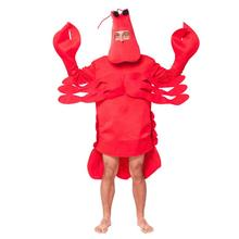 Costume de homard rouge Halloween chapeau de crevettes adulte écrevisse Costume de crabe mascarade accessoires de déguisement fête de carnaval cadeau de nouvel an