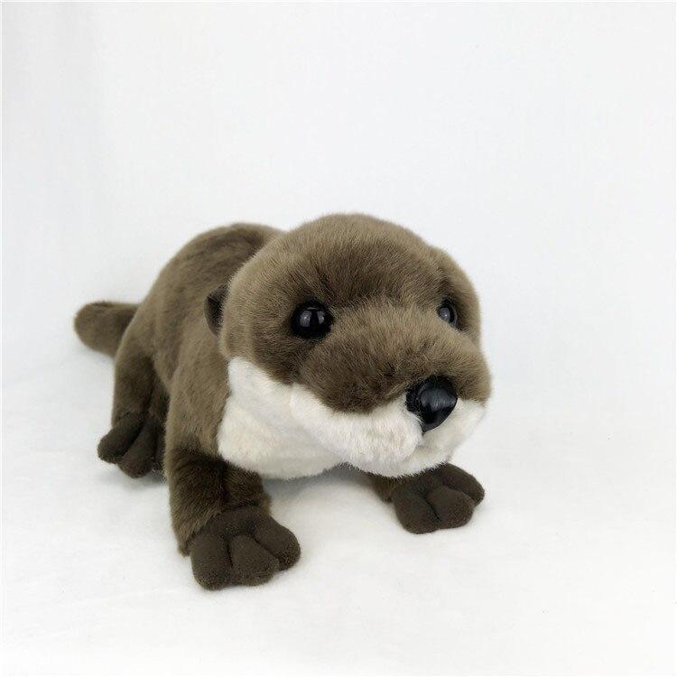 Nuevo juguete adorable nutria de peluche de aproximadamente 45cm Lutra Regalo de Cumpleaños de muñeco blando w2277