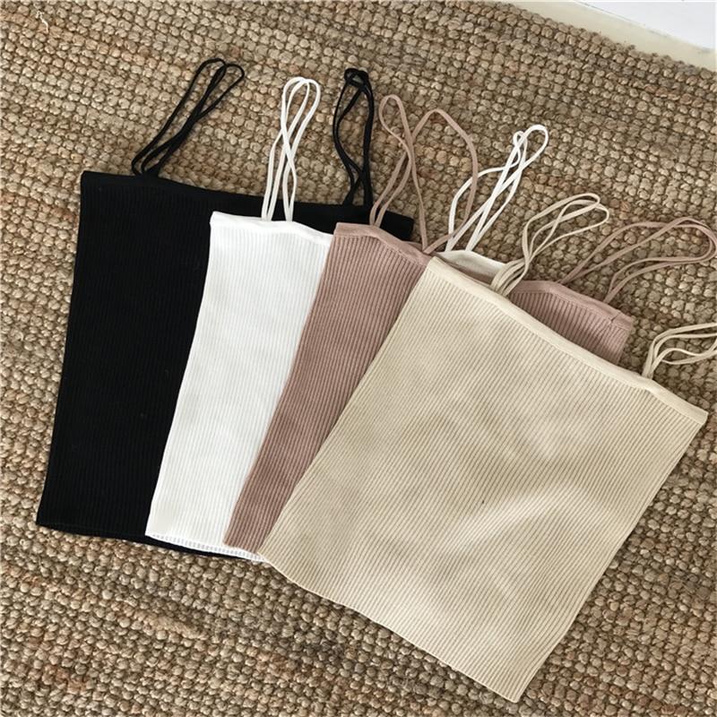 H0de06bf06b93462bb58863487049646cH - Summer Korean Sleeveless Basic Solid Camisole