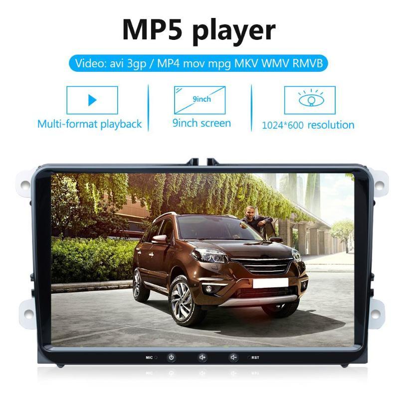K9 Quad Cord reproductor MP5 Android 8,1 coche estéreo GPS BT WiFi Radio en el tablero unidad principal para VW Leon ab 09/2005 VW/PASSAT B6