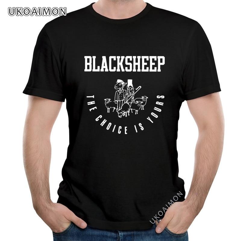 Новое поступление, футболки с изображением черной овцы, выбор ваш, новый дизайн на заказ, индивидуальные уличные футболки, футболки с рисунк...