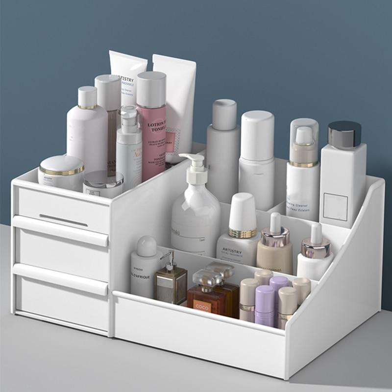 Smink szervező kozmetikai nagy kapacitású kozmetikai tároló doboz szervező asztali ékszerek körömlakk sminkfiók tartály