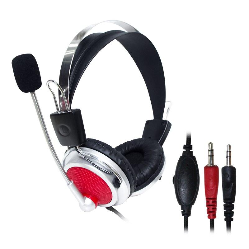 Высокое качество стерео Бас компьютерная игровая гарнитура наушники с микрофоном для ПК телефона компьютерная игра для скайп игр