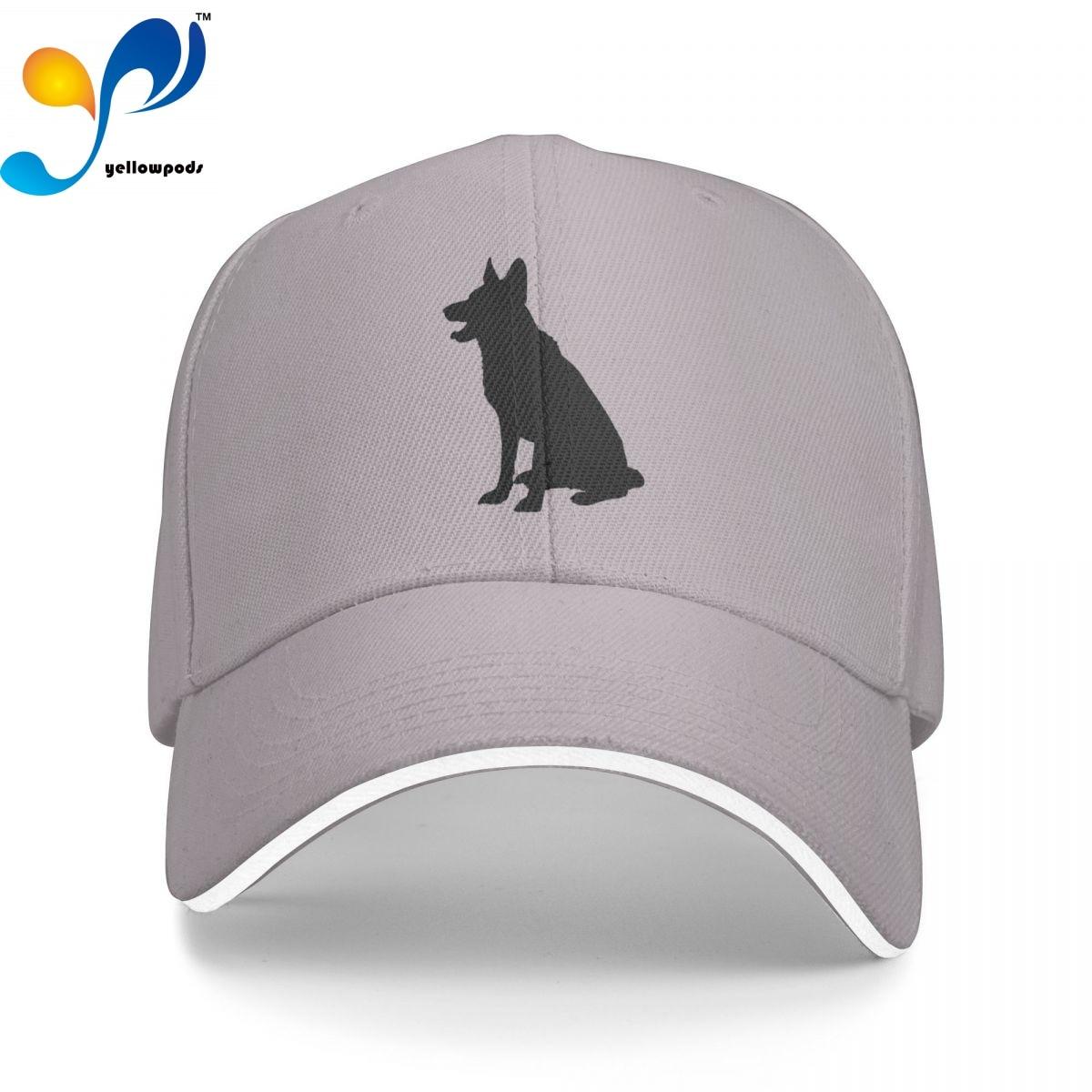 Бейсболка мужская с логотипом, модная кепка немецкой овчарки