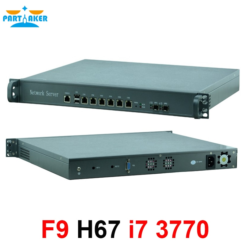 H67SL 6 * インテル 82583 v 2 * sfp 1U ケースネットワークサーバ、ファイアウォール、ルータインテル i7 3770 プロセッサファイアウォールアプライアンス vpn