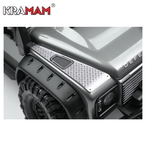 TRX4 Land Rover Defender machine cover metal anti-skid plate hood stainless steel decorative piece W016