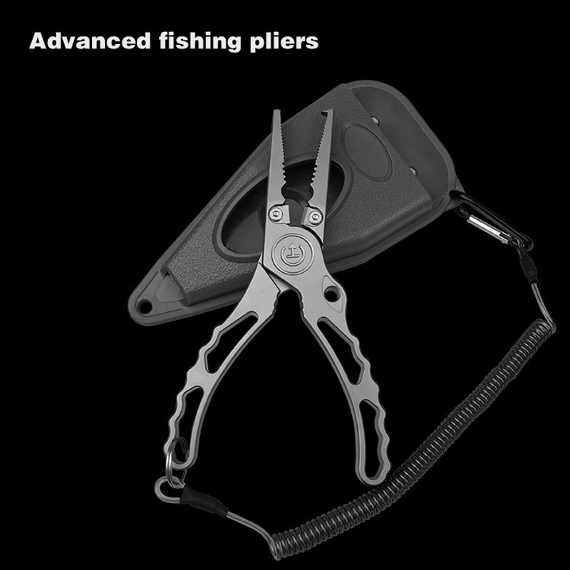 fishing Use Scissors Multifunctional Stainless Steel Lure Clamp Fishing Pliers Line Cutter Hook Fishing Tackle Tools Portable
