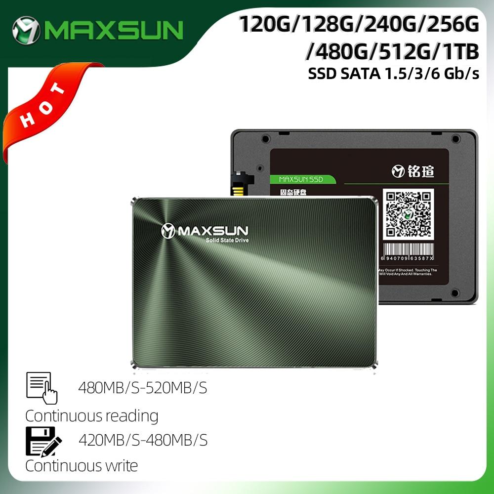 MAXSUN Full New SSD 240GB 480GB Laptop Internal Solid State Drives Desktop 120GB 128GB 256GB 520MB/s 1TB Hard Drive Disk SATA