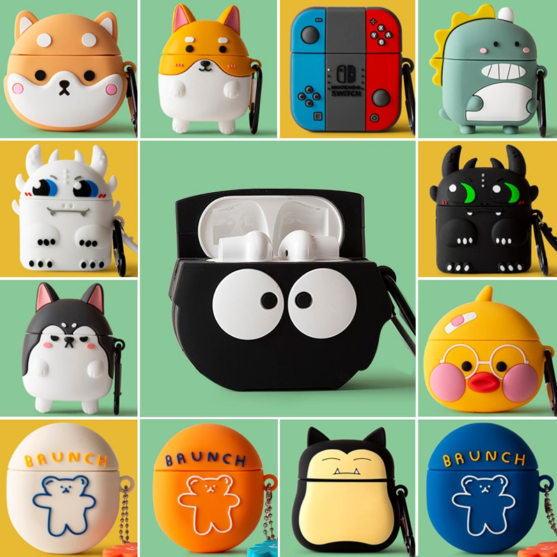 Cute 3D Cartoon Earphone Case For Oneplus Buds Soft Silicone Wireless Bluetooth Portable Headphone Cover For One Plus Buds TWS