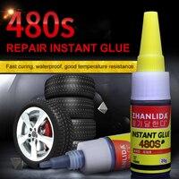 480S Black Car Repair Tool Bike Tire Repair Glue Bicycle Inner Tube Puncture Repair Cement Rubber Cold Patch Solution TSLM1