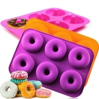 1pcs silicone donut pan mold non stick donut tray for baking full size bagel doughnut baking tray maker pan biscuit bagels mould