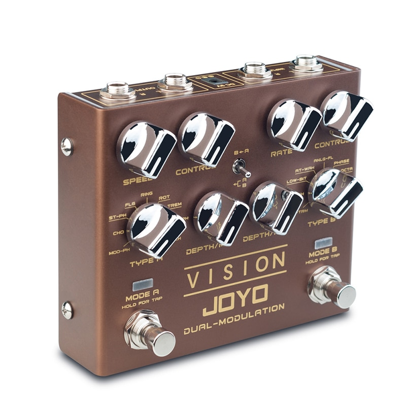 JOYO R-09 Vision Multi-effect Guitar Effect Pedal Nine Effects Dual Channel Modulation Pedal Tap Tempo Mini Effect True Bypass enlarge