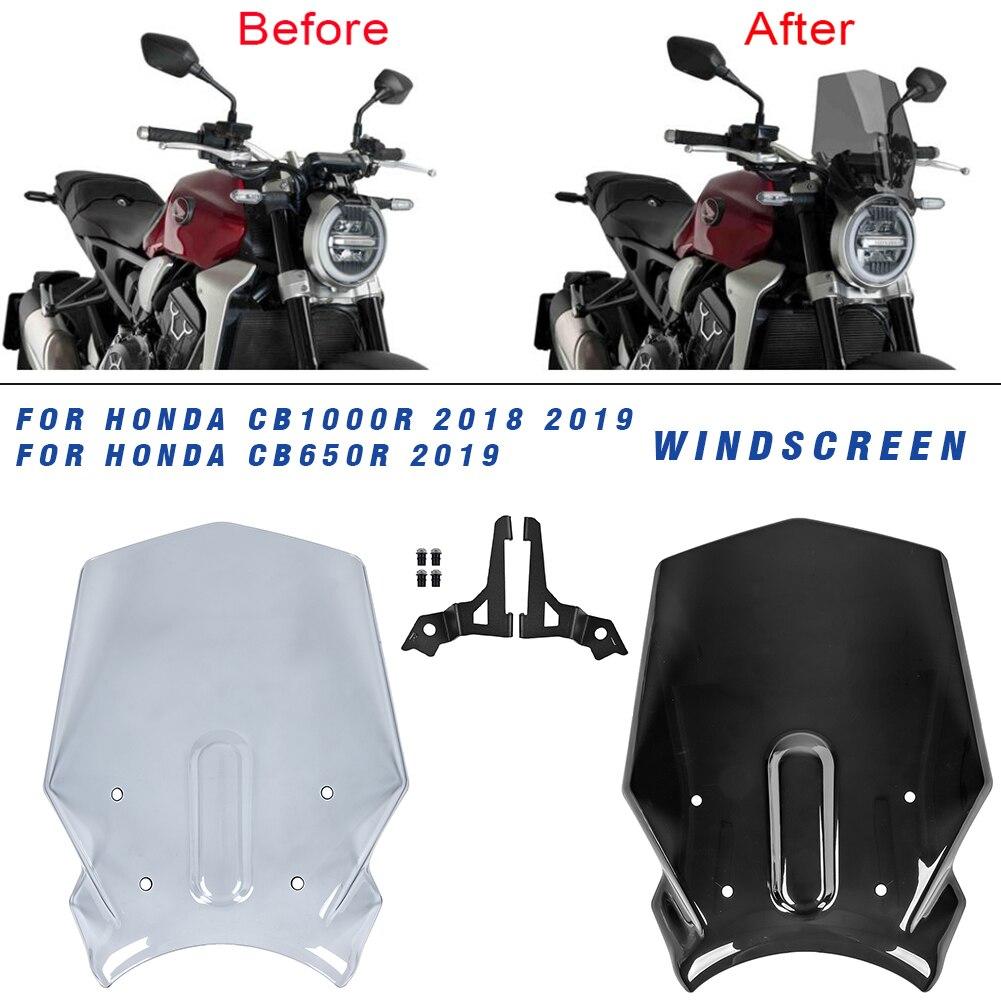 Wind Screen Motorcycle Windshield Windscreen for Honda CB1000R 2018 2019 CB650R CB 1000 R CB 1000R 18 19