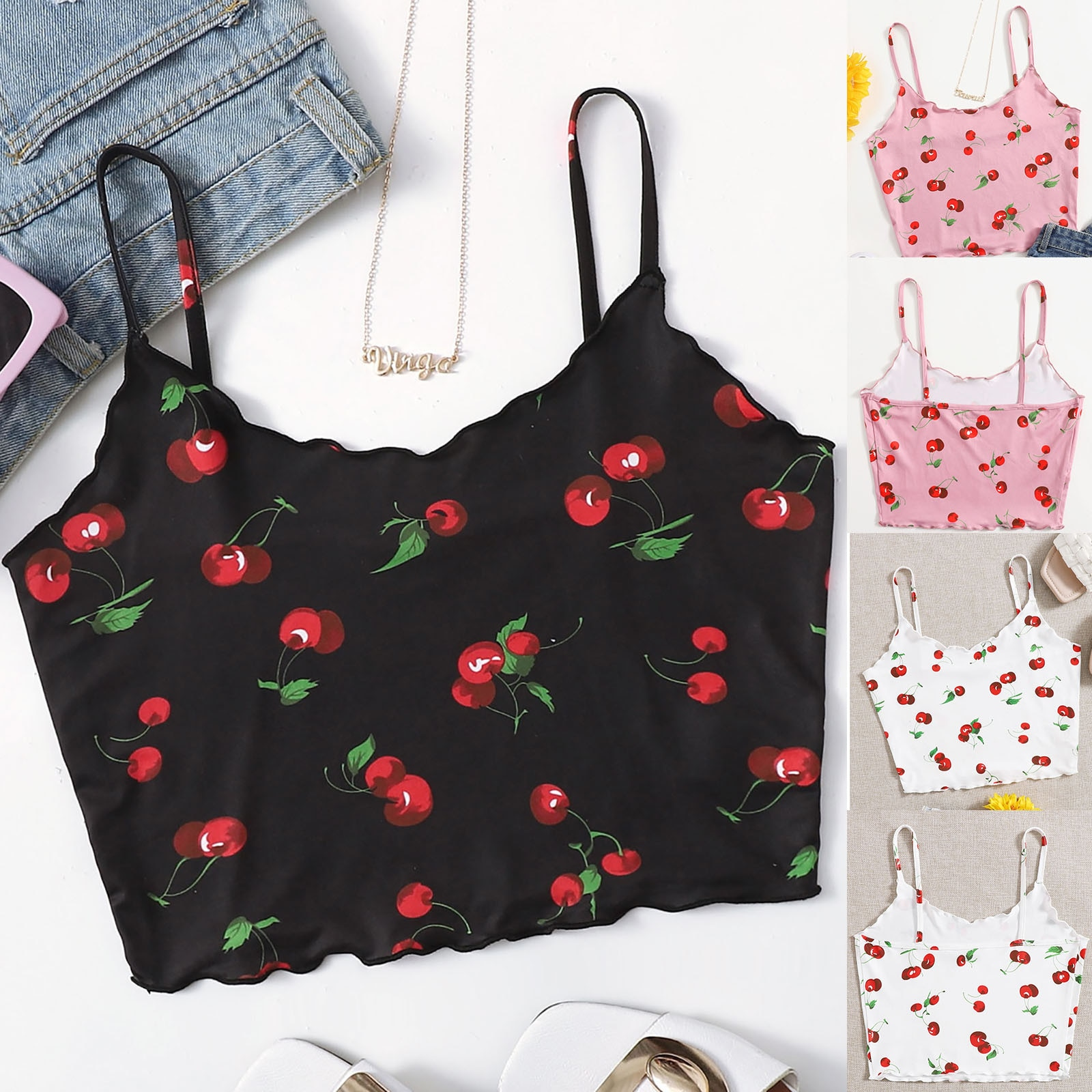 Lace Sexy Skinny Women Y2k Cami Summer Backless E Girl Camisole Y2k Aesthetic Tank Tops Floral Print