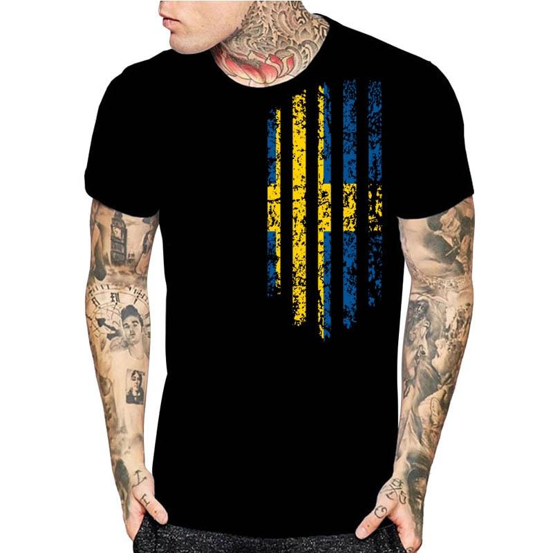 Camiseta de manga corta con estampado para hombre sueco, camisetas de regalo de Navidad de diseño moderno talla asiática S a 3xl