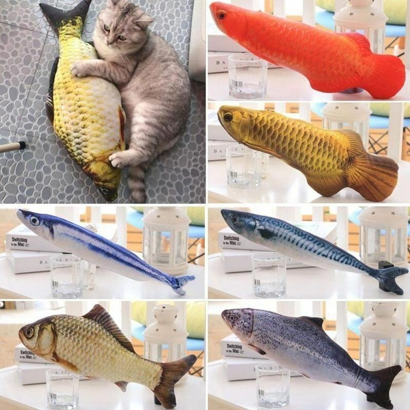 Cat Favor Fish Toy Fish Shape Sisal 3D Pet Cat Scratch Board Scratching Post Cat Mint Stuffed for Cat Products Pet Supplies