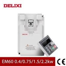 DELIXI-onduleur VFD à commande de vitesse   Convertisseur de fréquence AC 220V 0, 4KW/0, 75KW/1, 5KW/2,2kw monophasé, moteur, convertisseur de fréquence 50/60HZ cc