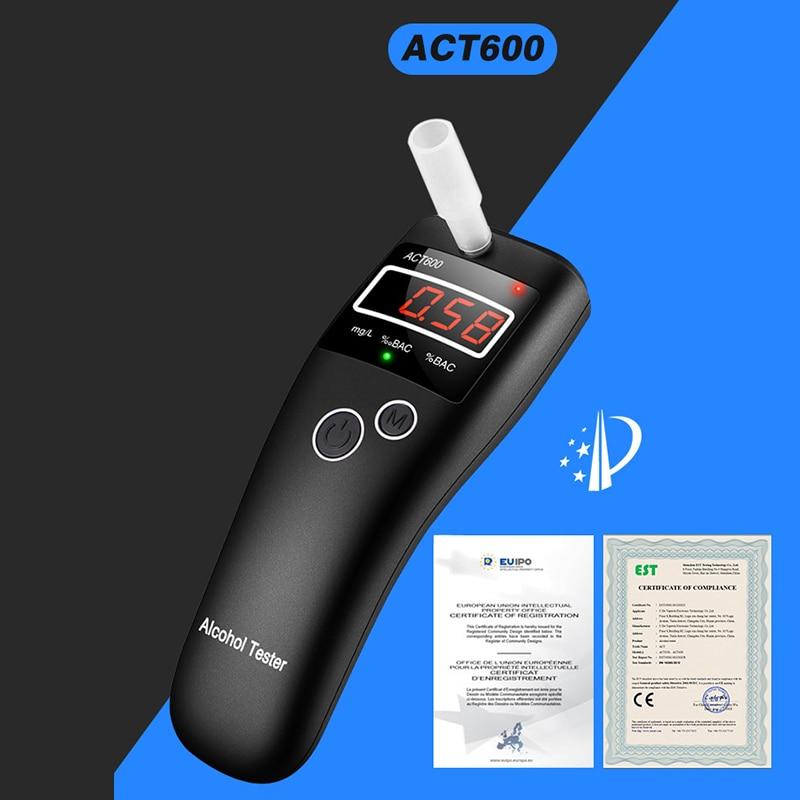 ACT600 جديد عالية الدقة جهاز اختبار شرب الكحوليات الصغيرة ، الكحول ، alcometer ، الكوتيست تذكير سلامة السائق في أداة تشخيص الطريق