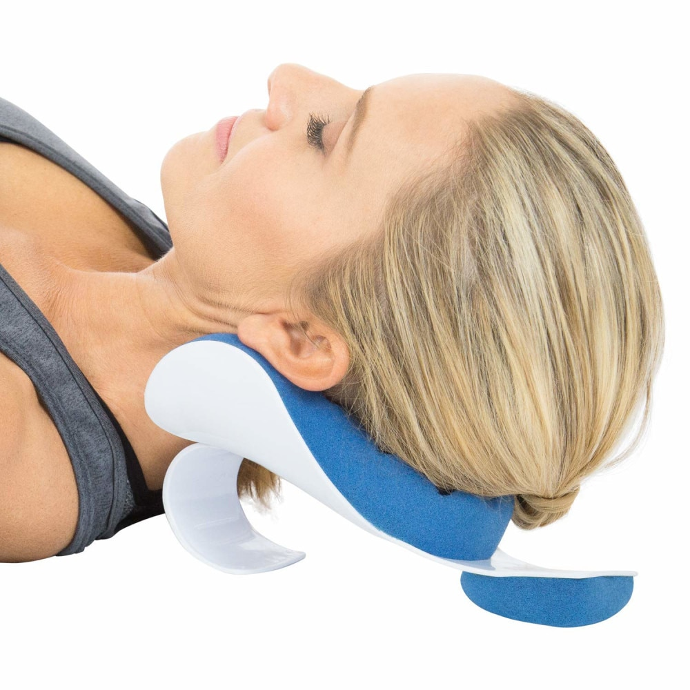 Almohada de hombro con cuello cómodo relajante masajeador cojín apto para calmante para la tensión almohada suave esponja libera almohada de cama muscular