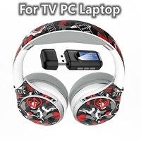 ПК ТВ Беспроводной наушники с микрофоном и ноутбук ТВ AUX USB Bluetooth передатчик, музыка, гарнитура, стерео, бас, Поддержка TF карты