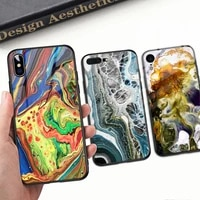 tempered glass phone case for iphone 11 12 pro max 12 mini xr x 7 8 6 6s plus xs max tempered glass hard marble back cover