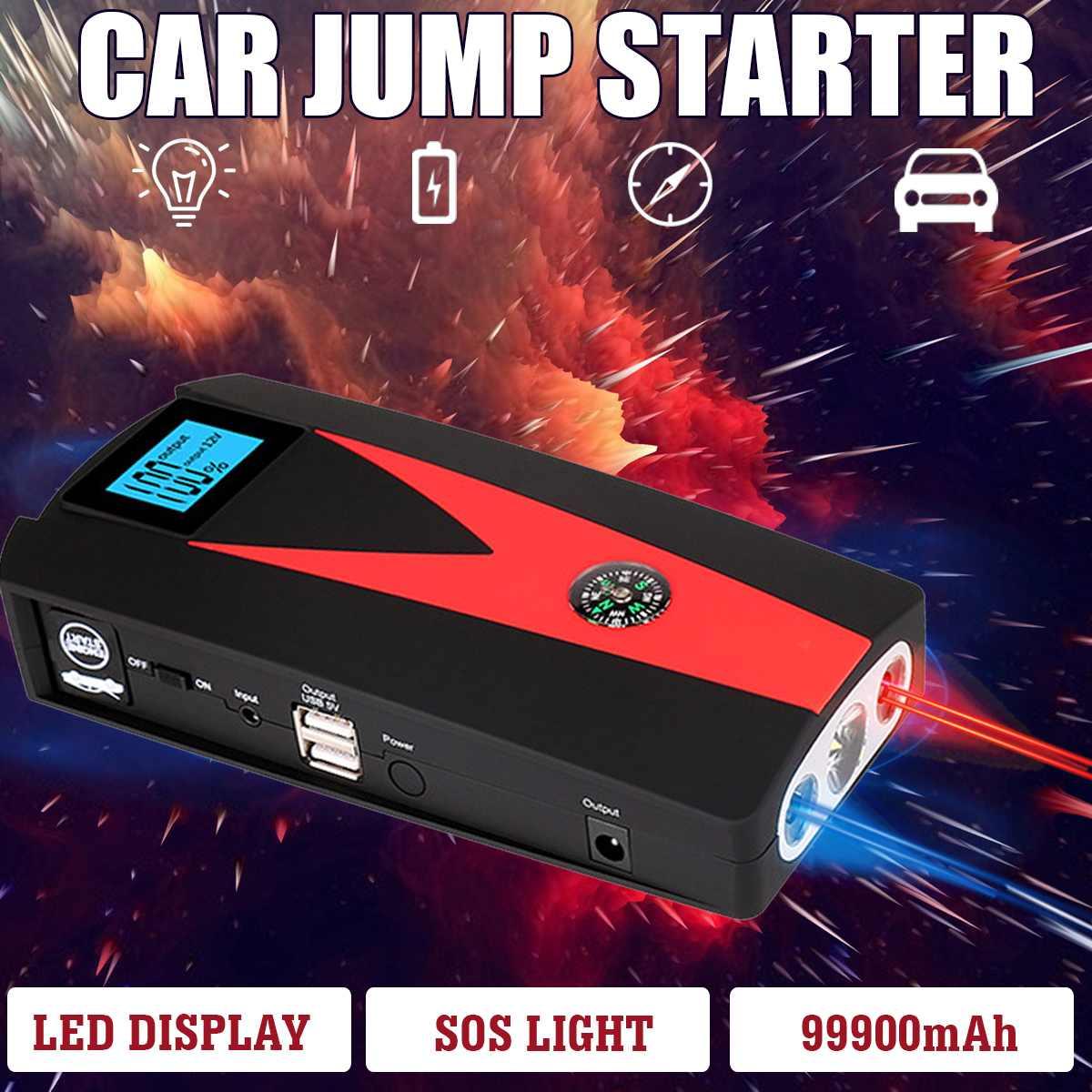 12V 82800/99900mAh Tragbare Auto Starthilfe Booster Batterie Ladegerät USB Ladegerät Notfall Kräfte Auto LED Für ausgangs Gerät
